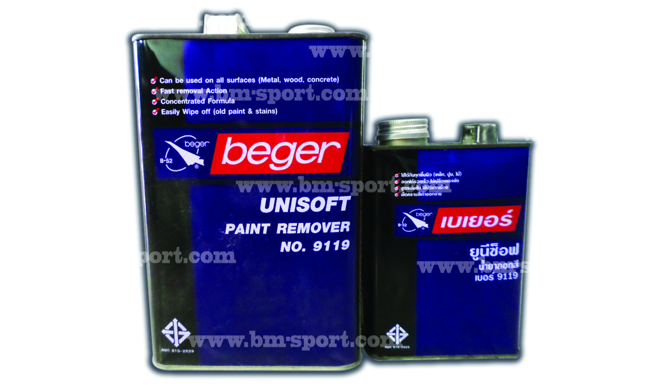 Beger Unisoft Paint Remover No.9119 ขนาด 1 กล. และ 1-4 กล.